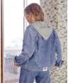 Куртка женская  джинсовая Sport W1671A - фото 2