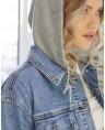 Куртка женская  джинсовая Sport W1671A - фото 4