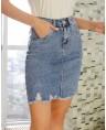 Юбка женская джинсовая W1682A - фото 4