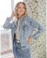 Куртка джинсовая женская Sport W1662A - фото 4