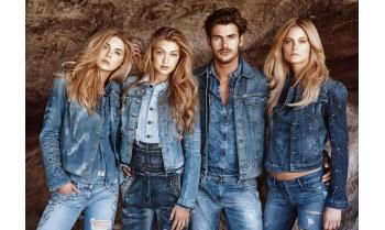 Модная джинсовая одежда и джинсовый стиль